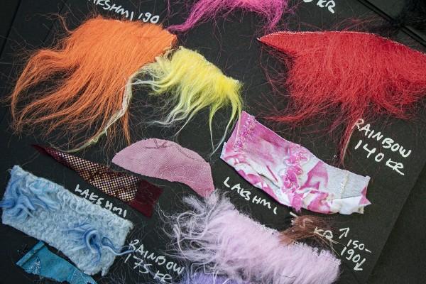 Materialer i ulike farger