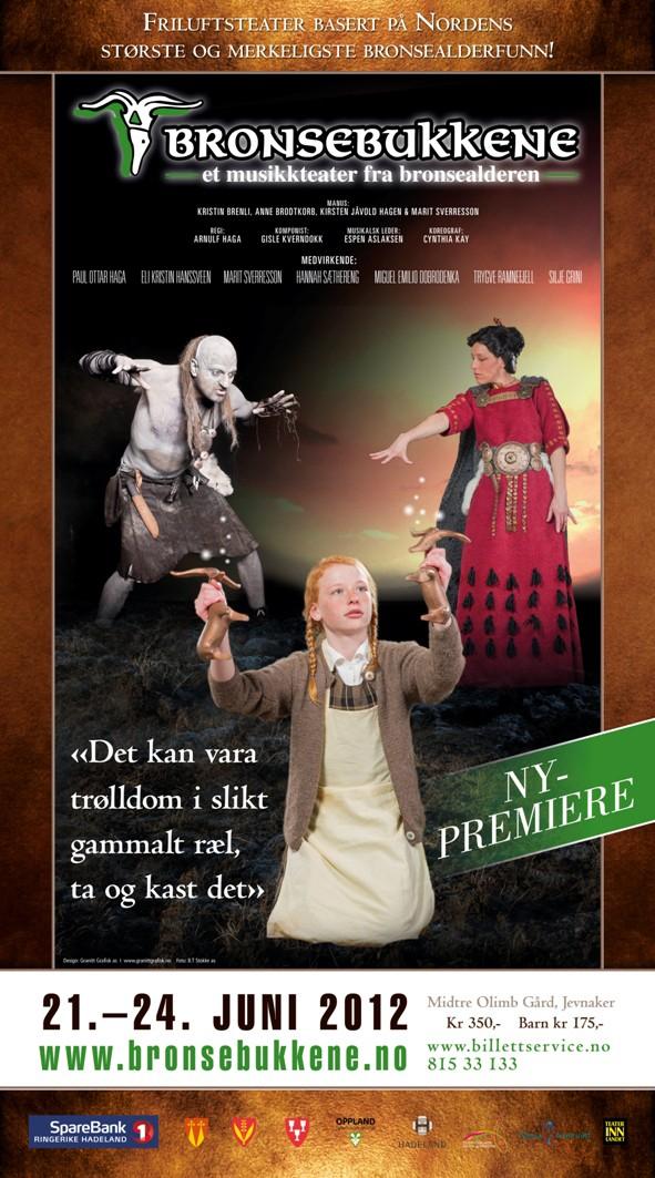 En plakat for 2012-utgaven av teaterstykket Bronsebukkene