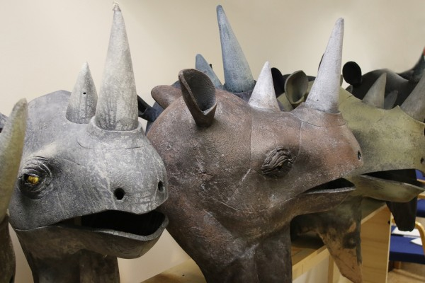 Rhinoceros heads