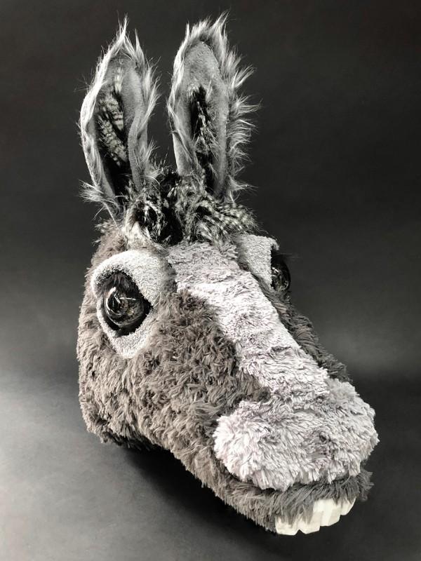 A donkey head.