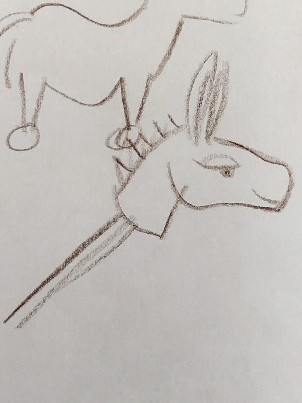 A sketch of a hobby donkey.