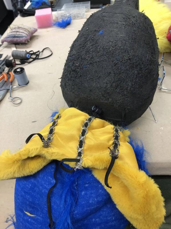 Parrot foam body in progress