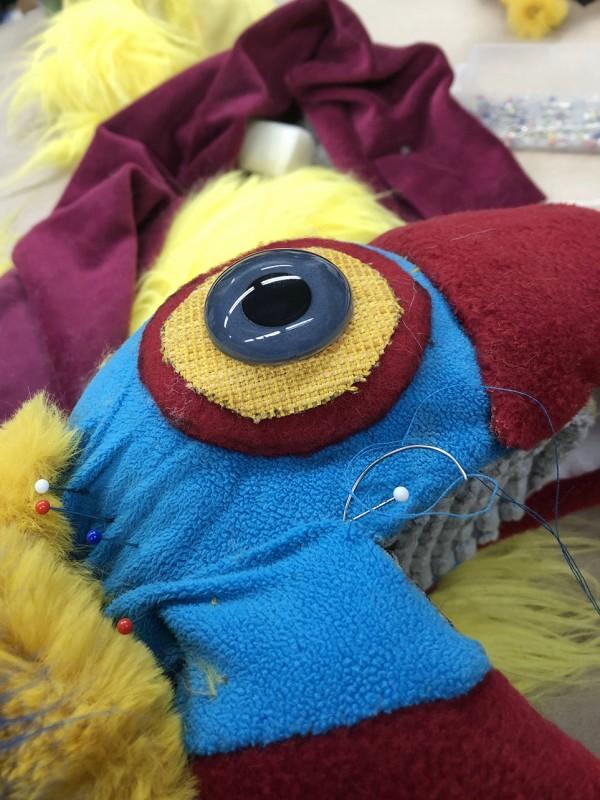 Closeup parrot-eye